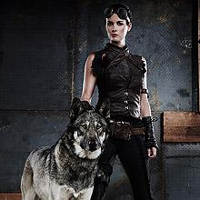 Riese and her wolf, Fenrir