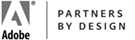 Adobe Partners by Design Partnership Logo