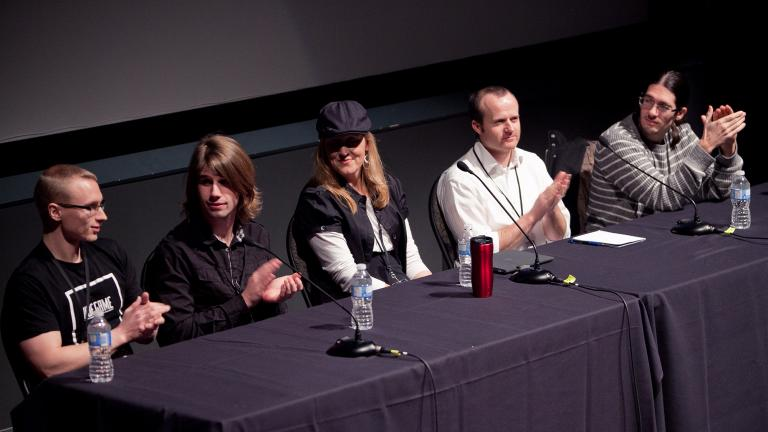 Panel of industry members speak to Game Design students