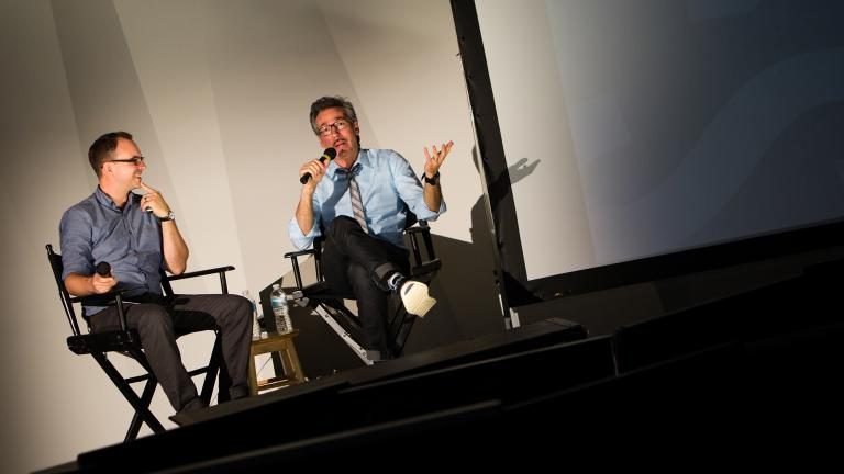 Lino DiSalvo of Paramount Animation speaks to students