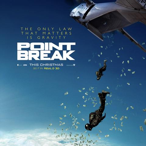 Point Break poster, Foundation Visual Art and Design alumni credits