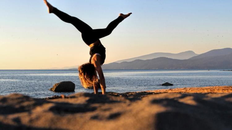 Yoga by the Pacific Ocean